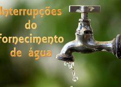 Mafra   Interrupções do fornecimento de água