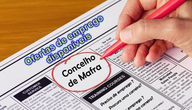 Ofertas de emprego disponíveis no Concelho de Mafra | Jornal